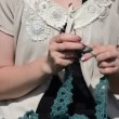 Tatting needlecraft — Stock Video