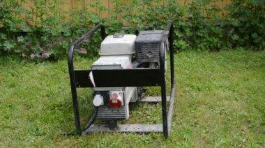 Diesel mobile generator — Stock Video