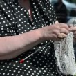 Rare knitting — Stock Video