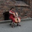 Stock Video: Girl play violoncello
