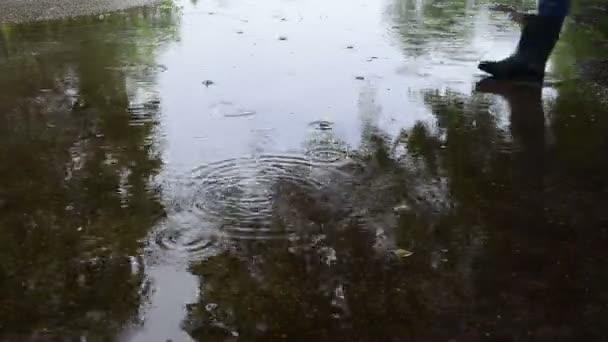Eau de trempage croix humaine — Vidéo