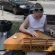 Stock Video: Hand play baltic psaltery