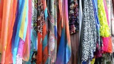 Multicolor cloak shawls — Stock Video