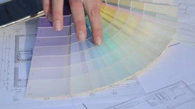 Designer choose color — Stock Video