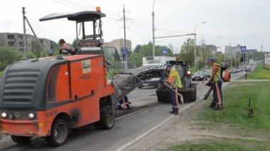 Cold planner asphalt — Wideo stockowe