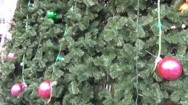 Christmas tree trim — Wideo stockowe