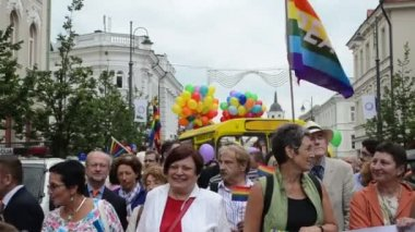 Politics gay parade — Stock Video