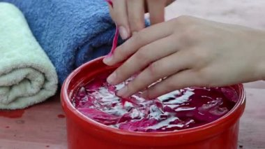 Peonies water spa — Stock Video