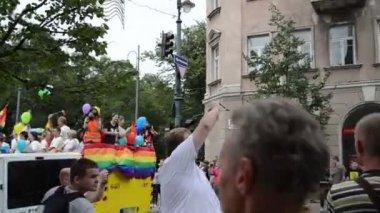 Gay lesbian poster — Stock Video