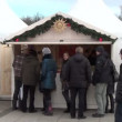 Stock Video: Christmas fair stall