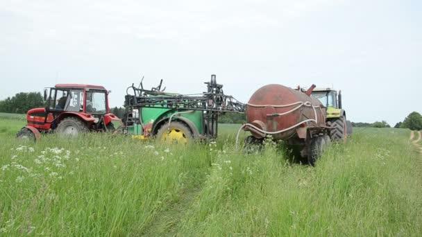 Travail de tracteur — Vidéo