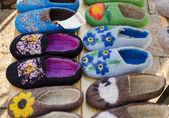 Color eco felt feminine indoor slipper on market   — Stock Photo