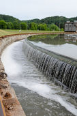 Sewage water treatment basin waterworks  — Stock Photo