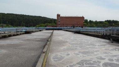 Water treatment basin — Stock Video