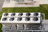 Ventilator fan spin on building biogas plant  — Stock Photo