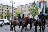 Mounted police keep public city event   — Stock Photo