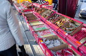Sweets and candies on sale at market fair bazaar  — Stockfoto