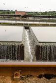 Primary radial settler at sewage water treatment  — Stock Photo