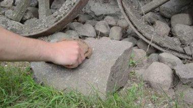 Рука подкова стек — Стоковое видео