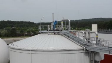Biogas plant sludge — Stockvideo
