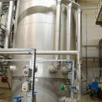 Reservoir tanks sludge digester storage dry biogas — Stock Photo #49646649