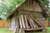 Old  ancient rustic log house  — Stockfoto