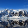 Stock Photo: Reflections in antarctica