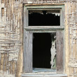 Window of a ruined house — Stock Photo