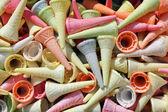 Colorful ice cream cones — Stock Photo