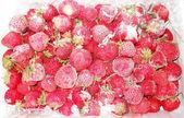 Frysta jordgubbar — Stockfoto