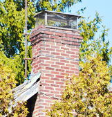 Close up chimney on the roof — Foto Stock