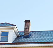 Close up chimney on the roof — Zdjęcie stockowe
