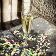 Glass with champagne - Foto Stock