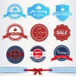 Royalty-Free Stock Vector Image: Vintage labels or badges set