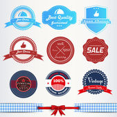 Vintage labels or badges set — Stock Vector
