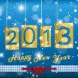 Stock Vector: Happy New Year 2013