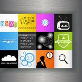 Vektör, web site tasarım şablonu. — Stok Vektör