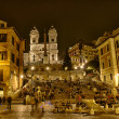 The Spanish Steps from Piazza di Spagna — Stock Photo