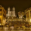 The Spanish Steps from Piazza di Spagna - Stock Photo