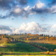 Early morning on Tuscany - Stock Photo