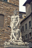 Famous statue of Hercules and Cacus — Stock Photo