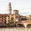 Old bridge in Verona - Stock Photo