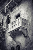 The famous balcony of Romeo and Juliet — Stock Photo