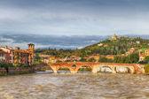 Old bridge in Verona — Stock Photo