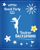 Fiesta en la playa — Vector de stock