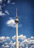 Television tower in berlin — Stock Photo