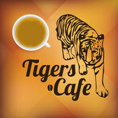 Tigers Cafe — Stock Vector