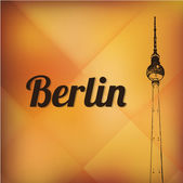 Television tower in berlin — Vector de stock