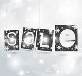 Christmas label vector illustration — Stock Vector