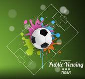 Public Viewing — Stock Vector